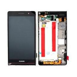 LCD per Huawei Ascend P6 Con Frame Nero