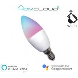 Lampadina Wi-FI RGB+BIANCO CALDO E14 dimmerabile