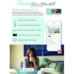 Pannello Informativo da banco in cartoncino Homcloud App