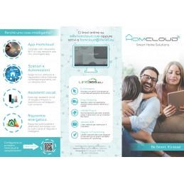 Pieghevole pubblicitario Homcloud - Nuova versione