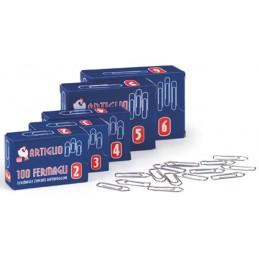 Fermagli in acciaio conf. 10 scatole da 100pz - Misura n.6