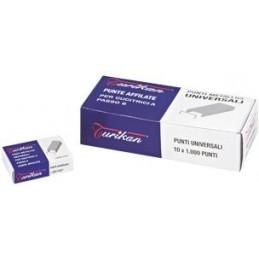 PUNTI universali mis. 6/4 TURIKAN Conf. 10 scatole da 1000pz