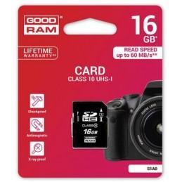 Scheda SD 16GB SDHC Goodram - blister retail
