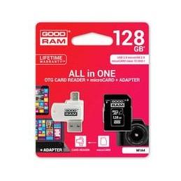 microSD 128GB CARD class 10 + adpter + card reader - blister