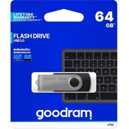 Chiavetta/Pendrive USB Goodram Twister 64GB nera USB 2.0