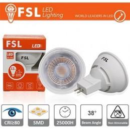 MR16 Lampadina LED - 6W 4000K 510LM 38º CRI80   DC 12V