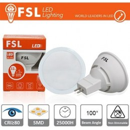 MR16 Lampadina LED - 6W 4000K 510LM 100º CRI80  DC 12V