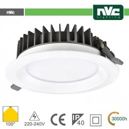 Downlight LED IP40 15W 5700K 1275LM 100º FORO:125mm