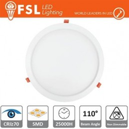 Downlight LED IP20 15W 3000K 1050LM 110° FORO:180mm