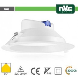 Downlight LED IP44 17W 3000K 1550LM 90º FORO:145-155mm
