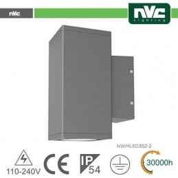 Applique 2 lati Output IP54 - 16W 1280LM 3000K 35°