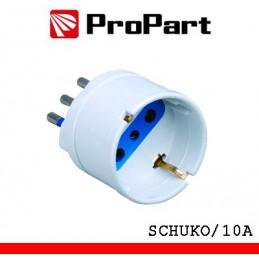Adattatore schuko spina10A polybag