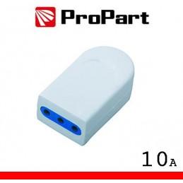 Presa 10A 2P+T polybag