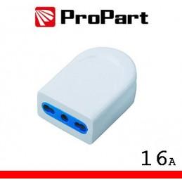 Presa 10/16A 2P+T polybag
