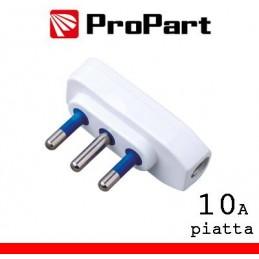 Spina 10A 2P+T piatta polybag
