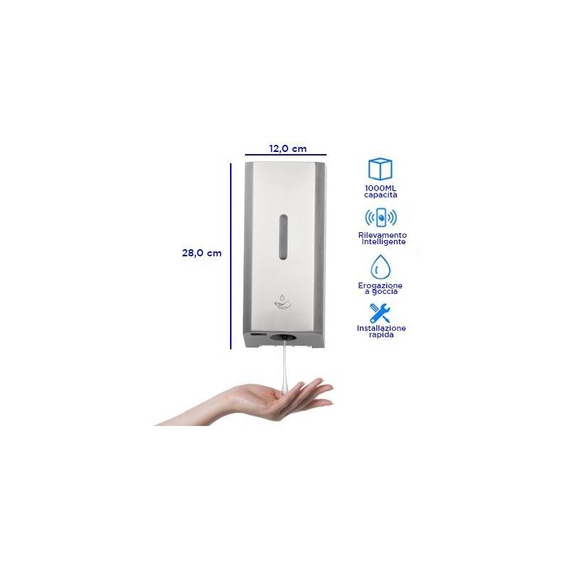 Dispenser automatico in alluminio a muro - 1 LT