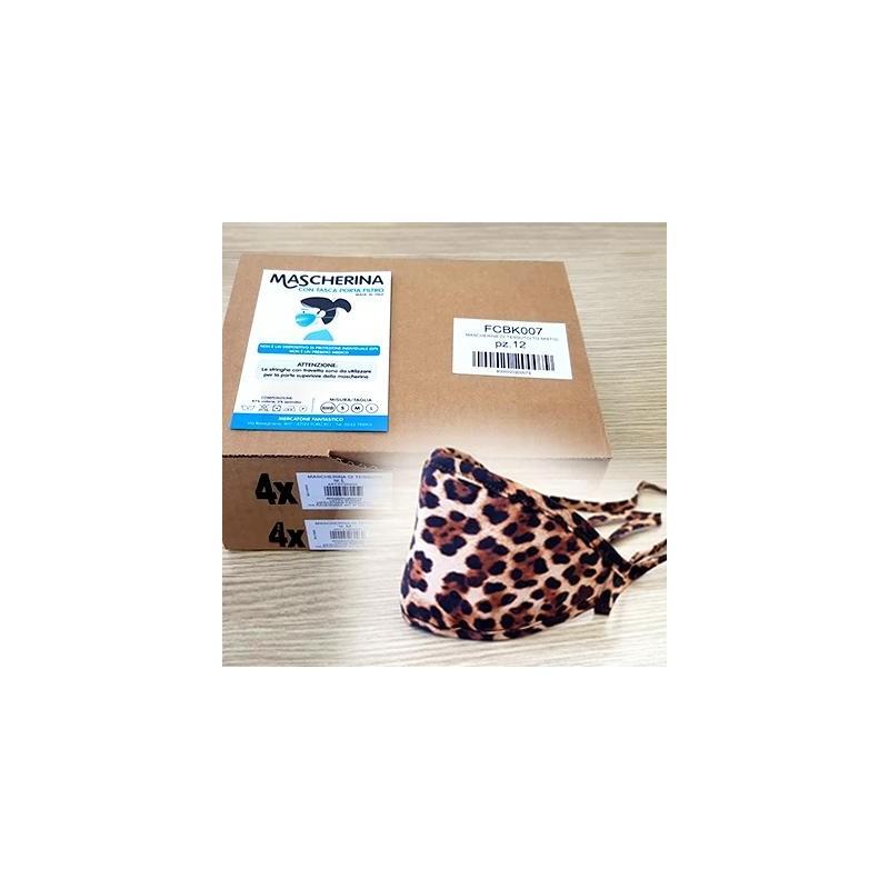 Mascherina Kit 12 pezzi Ghepard cotone lavabile Porta-Filtro