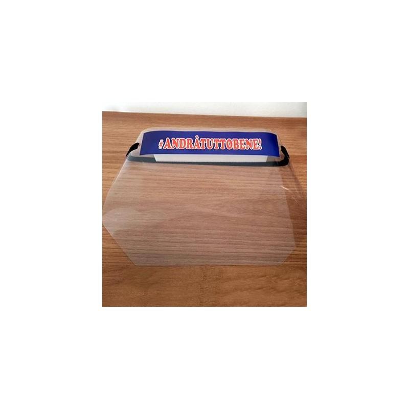 Visiera protettiva in PVC con elastico AndràTuttoBene