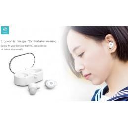 Auricolari stereo TWS 5.0 Bluetooth con box di carica Bianco