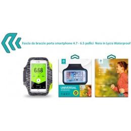 Fascia da braccio porta smartphone 4.7 - 6.5 pollici Nera
