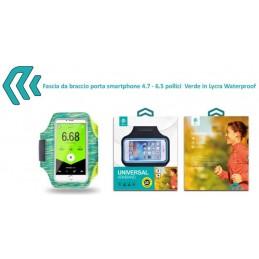 Fascia da braccio porta smartphone 4.7 - 6.5 pollici Verde