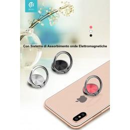 Anello supporto smartphone con Sistema anti onde Bianco