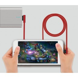 Cavo King USB - M-Usb ad angolo 90° Rosso