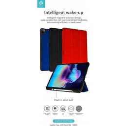 Cover in pelle con supporto pencil iPad 12.9 Pro 2020 Nera