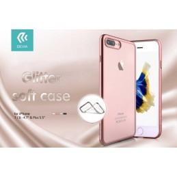 Cover Devia Glitter Soft per iPhone 7 & 8 Silver