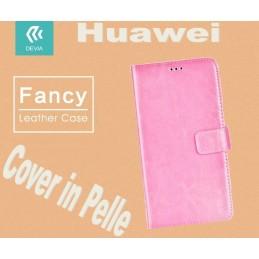 Custodia a Libro in Pelle Per Huawei P8 Lite Rosa