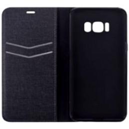 Cover a libro Devia Flip Case Huawei P9 & P8 Lite 2017 Nera