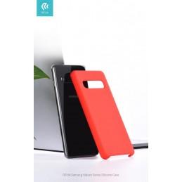 Cover Protezione per Samsung S10+ in Silicone Morbido Rossa