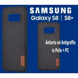 Custodia Flax in Pelle + Pc per Samsung Galaxy S8 Nera