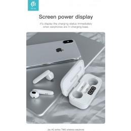Auricolari Bluetooth TWS 5.0 Joy A2 con Display Bianchi