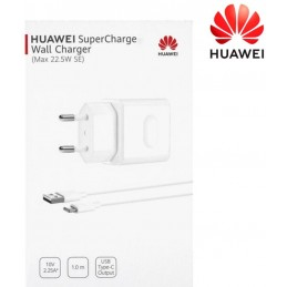 Caricabatteria Huawei CP404 22,50 W Con Cavo Tip-C Bianco