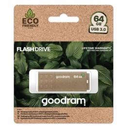 Pendrive GoodRAM 64GB UME3 GREEN USB 3.0 - retail blister