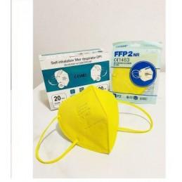 Mascherina protettiva monouso FFP2 GIALLA - conf. da 20PZ
