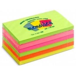 MEMOIDEA 127x76 mm colori neon assortiti - 6 blocchi da 100