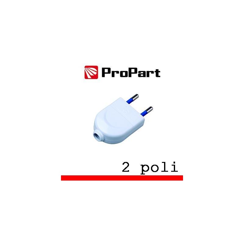 Spina 10A 2 poli polybag