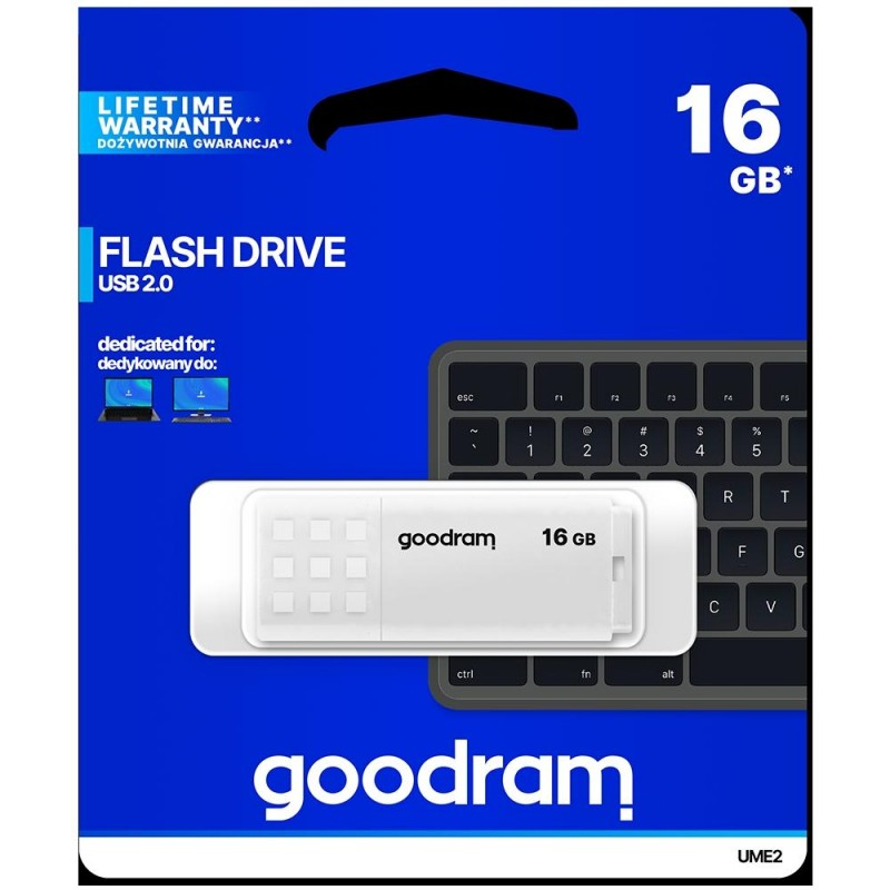 Pendrive GoodRAM 16GB UME2 white USB 2.0 - retail blister