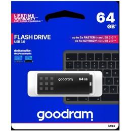 Pendrive GoodRAM 64GB BLACK USB 3.0 - retail blister