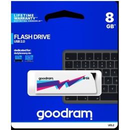 Pendrive GoodRAM 8GB UCL2 WHITE USB 2.0 - retail blister