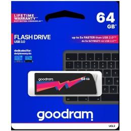 Pendrive GoodRAM 64GB UCL2 BLACK USB 3.0 - retail blister